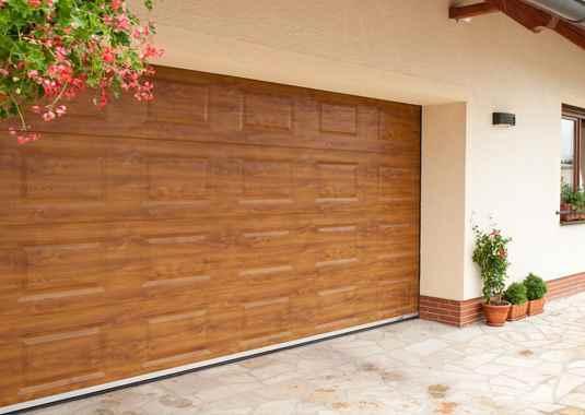 секционна гаражна врата с торсионни пружини