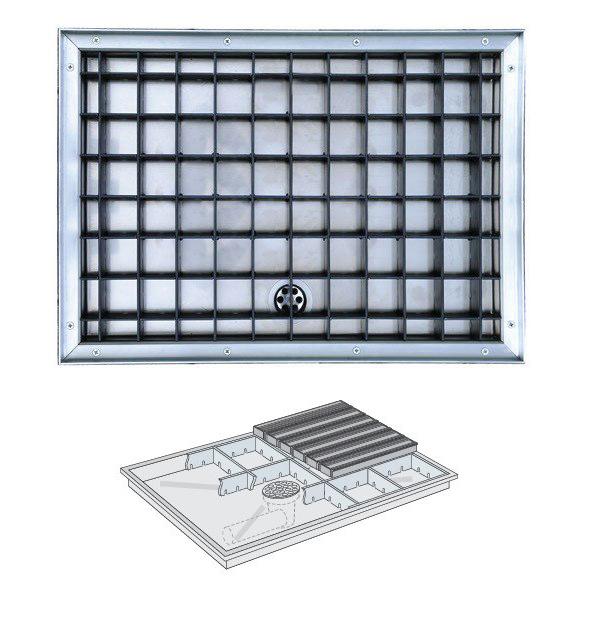 отводнителна система за алуминиева изтривалка