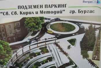 Подземен паркинг - гр. Бургас, България